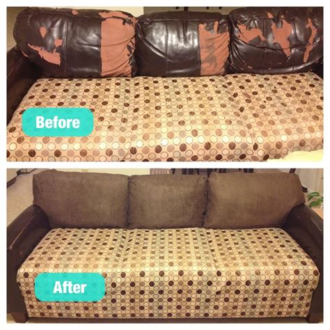 how to change leather sofa cover fixed my peeling leather couch cushions for under 60 not