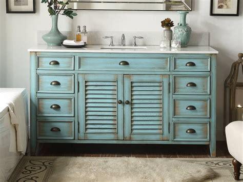 "60"" Distressed blue Single Sink Abbeville Bathroom Sink"
