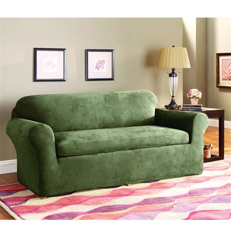 sure fit stretch suede sofa slipcover sure fit stretch suede sofa 3 piece bench seat slipcover