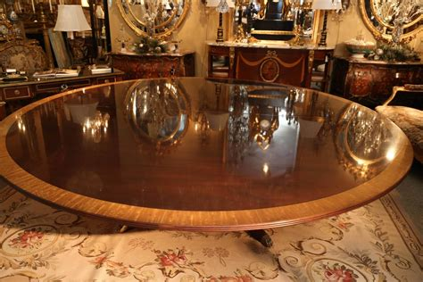 Custom Made Extra Wide Round Dining Table For Sale At 1stdibs