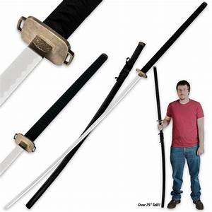 75 In Odachi Samuari Warrior Sword w/ Matching Scabbard