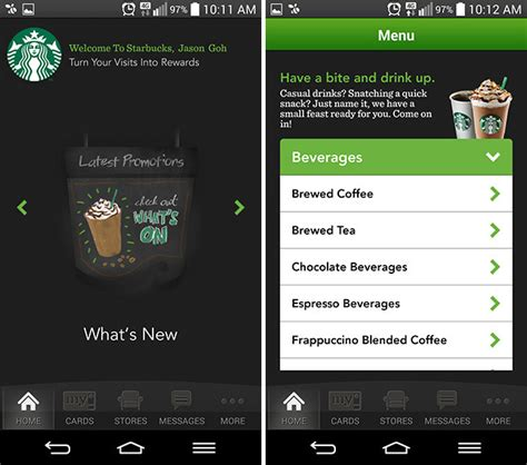 starbucks app for android starbucks malaysia releases official app for iphone