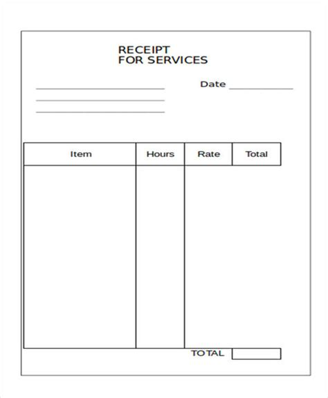 blank receipt template 10 blank receipt templates exles in word pdf