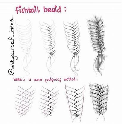Braid Drawing Draw Fishtail Braids Dessin Trenzas