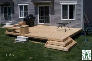 Simple Decks For Houses Ideas by Medium Diy Deck Plans