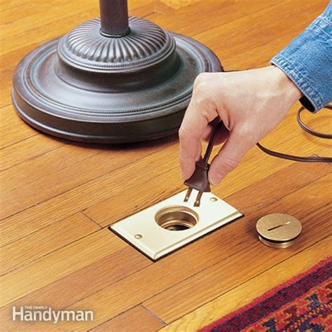 install  floor outlet  family handyman