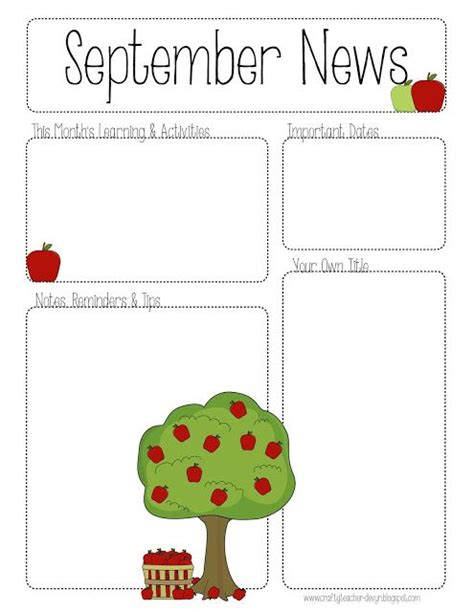 september printable newsletter all grades the crafty 608   14354875f8a662e5ccc57bfd7cd9abaa