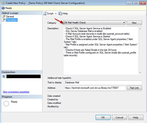 sql server  mail health check  policy based