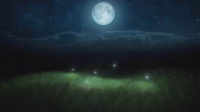 Giphy Sky Animated Moonlight Moon Meditation Northern