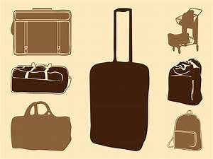 Luggage Bags Silhouettes Vector Art & Graphics ...
