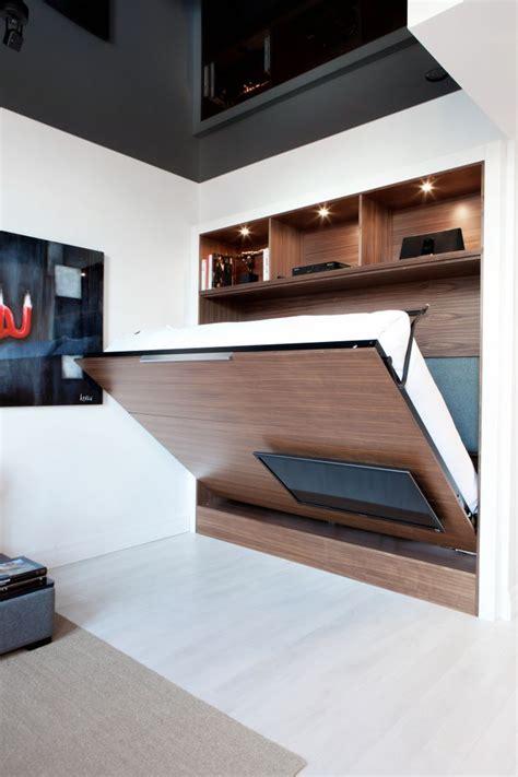table de cuisine rabattable unité tv mural dissimule lit escamotable idea