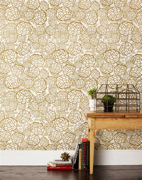 petal pusher gold wallpaper hygge west