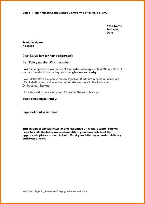 insurance letter template property damage claim letter sle dolap magnetband co