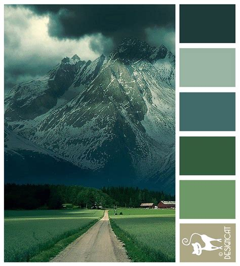 alps road green forest teal blue grey designcat colour inspiration pallet home 2 be