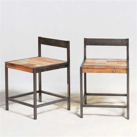 chaise en fil de fer chaise en fer industriel chaise design fil de fer et pieds en bois chaise style industriel