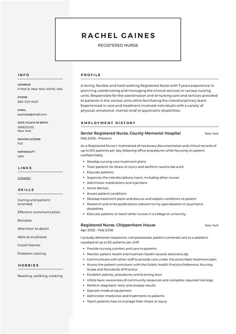 Experienced Nursing Resume Sles by Registered Resume Sle Writing Guide 12