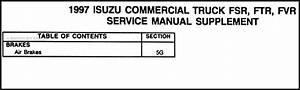 1997 Fsr  Ftr  Fvr  Truck Air Brakes Repair Shop Manual
