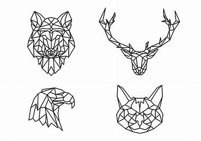 Geometric Animals Vector Coloring Animal Pages Vectorified
