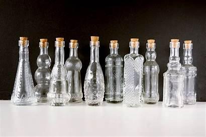Bottles Glass Clear Decorative Corks Tall Shrink
