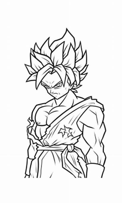 Colorear Colorir Saiyan Dibujos Coloring Ssj Goku
