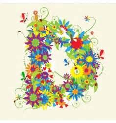 letter d floral design stock vector 169 kudryashka 3233753 letter j floral design royalty free vector image 40767