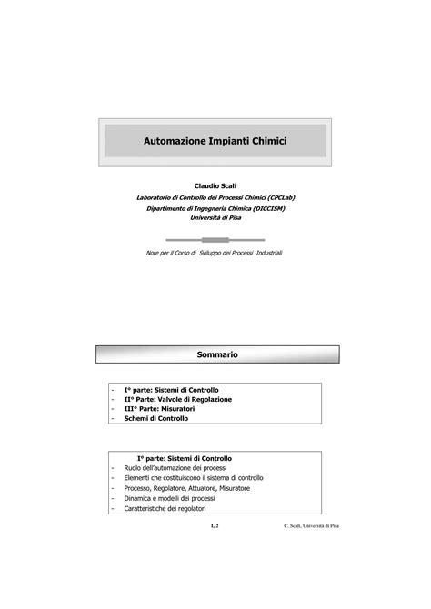 Dispense Impianti Industriali by Automazione Di Impianti Chimici Sistemi Di Controllo