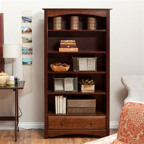 How To Build A 5 Shelf Bookcase by 5 Shelf Bookcase With Drawer Davinci Roxanne