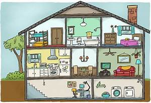 House Cutaway Diagram For Textbook