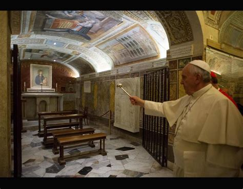 Pope Francis Visits Popes Tombs In Vatican