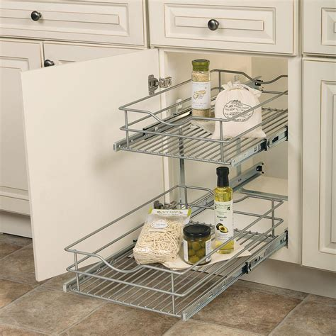 home depot kitchen organizers rev a shelf 18 13 in h x 20 75 in w x 22 in d pull out 4262