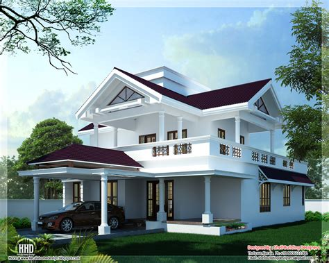 Roof Building Plans Photo Gallery by 2600 Sq Modern Sloping Roof Home Design Kerala Home