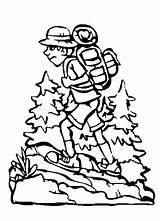 Hiking Coloring Pages Camping Backpack Boy Netart Getcolorings Printable Dora sketch template