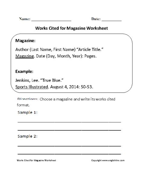 work cited page worksheet 14 best images of text structure worksheets order of