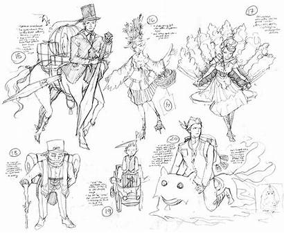 Character Concept Sketches Spring Mica