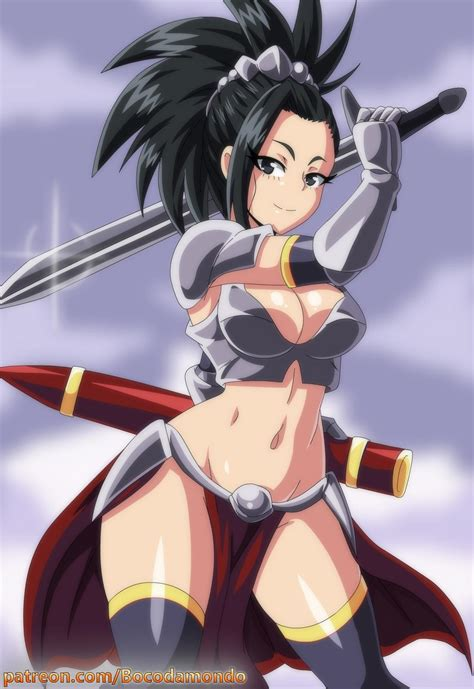 bikini armor momo by bocodamondo my hero academia know your meme