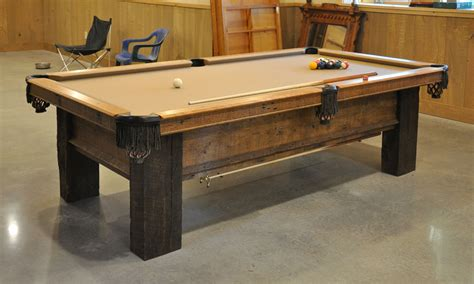 30315 build your own dining table expert a custom pool table from reclaimed lumber finewoodworking