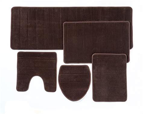 5 bathroom rug set bathroom rug mat 5 set memory foam soft non
