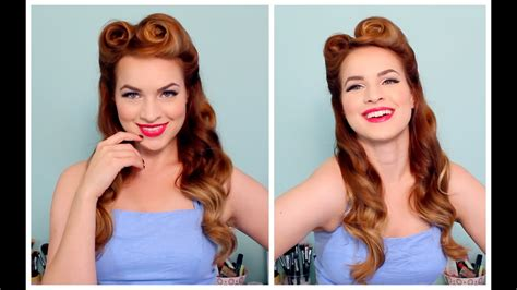 50s Hairstyle For Hair by 1940 S 50 S Pinup Hair And Makeup