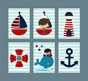 Raffrollo Kinderzimmer Junge : kinderzimmer poster bilder set maritim boy junge von ~ A.2002-acura-tl-radio.info Haus und Dekorationen