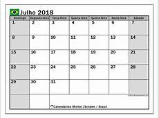 Calendário de julho de 2018, Brasil Michel Zbinden pt