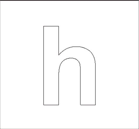 printable lowercase letter stencils lowercase h coloring page coloring page