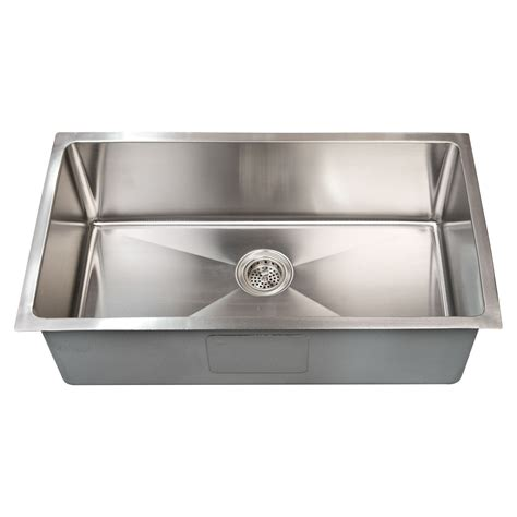 best stainless steel undermount kitchen sinks 32 quot x 19 quot optimum rectangular stainless steel undermount 9212
