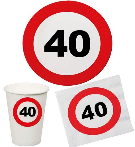 40 jahre geburtstag set 32 teile geburtstag 40 jahre verkehrsschild
