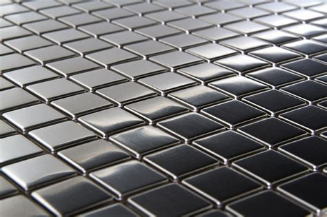 stainless steel tile square metal 3 4 quot x 3 4 quot mosaic stainless steel tile