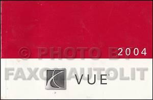 2004 Saturn Vue Repair Shop Manual Original 2 Volume Set