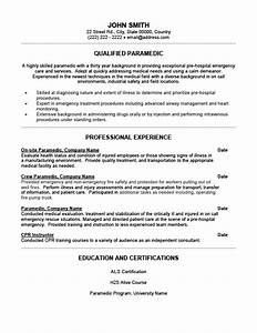 qualified paramedic resume template premium resume With paramedic cover letter examples