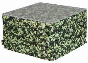 Grand Pouf Carré : grand pouf ou table basse motifs gazon vert chez kls living ~ Teatrodelosmanantiales.com Idées de Décoration