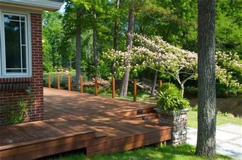 wrap around deck backyard patio and pool ideas