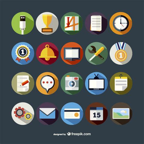 colorful icon pack colorful icons pack vector free