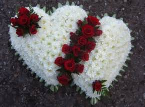 2 dozen roses heart special tributes funeral flowers
